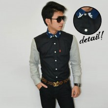 Kemeja Neck Bowtie Combination Terry