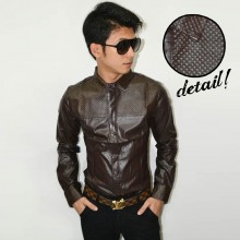 Kemeja Rocker Leather Brown