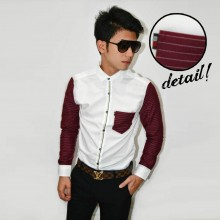Kemeja Sleeve Stripe Combination