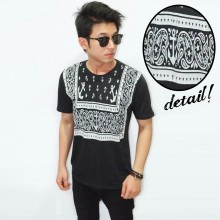 Anchor Ethnic Tee Black