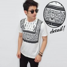 Anchor Ethnic Tee White