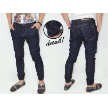 Joggers Pants Denim Dark Indigo