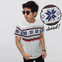 Snow Tribal White Tee