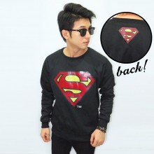 Sweater Superman Black - Superheroes