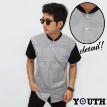 Youth Baseball Shirt Soft Grey Combi Black