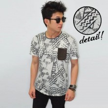 Abstract Zig Zag Pattern Tee