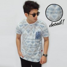 Blue Pyramid Tribal Tee