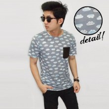 Cloud Vector Pattern Tee