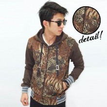 Jacket Leopard and Tiger Brown