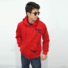 Jacket Simple Flocking Red