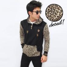 Jacket Sleeve Leopard Skin Black