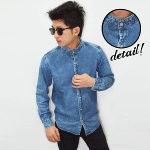 Kemeja Denim Shanghai Thin Faded