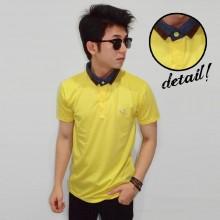 Polo Neck Mix Fabric Yellow