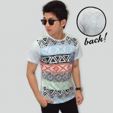 Polygon Tribal Pattern Tee