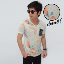 Abstract Brush Painting Tee