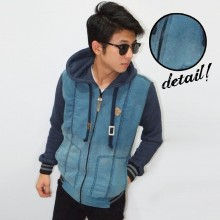 Jacket Denim Light Blue Torque Gradation