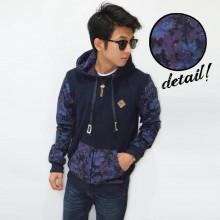 Jacket Sleeve Floral Galaxy