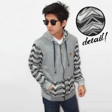 Jacket Sleeve Splash Monochrome