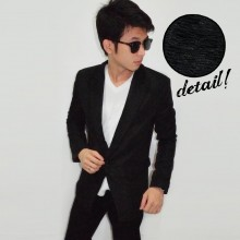 Mens Blazer Wrinkle Black - Limited