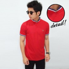 Polo Neck Shanghai Three Line Red - Limited