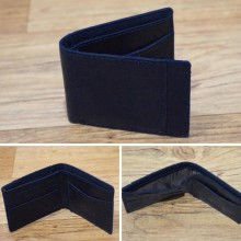 Dompet Leather Side List Dark Navy 8003