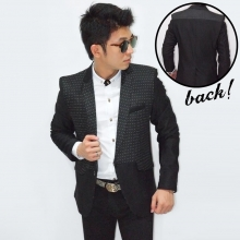 Mens Blazer Small Dotty Black