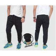 Sweatpants Terry Plain Black