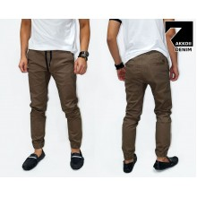 Jogger Pants Chino Basic Kakkoii Brown