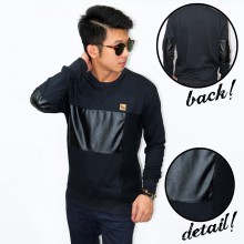 Jumper Middle Block Leather Black