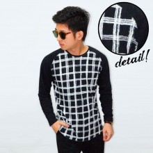 Raglan Body Net Square Tee Black