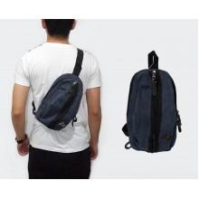 Shoulder Bag Macbeth Oval Canvas Navy