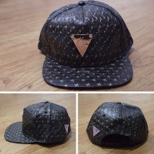 Topi Snapback Hater Leather Gold Stars