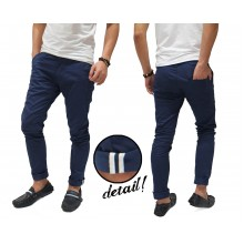 Celana Panjang Chino With Ribbon List Navy