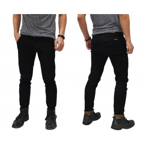 Jeans Pants Basic Skinny Kakkoii Black