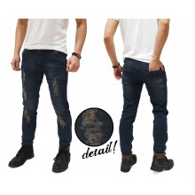 Jeans Ripped And Repair Kakkoii Dark Indigo