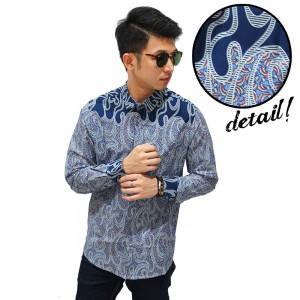 Kemeja Batik Top Paint Splatter