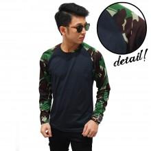 Raglan Sleeve Camouflage Army Dark Green