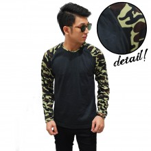 Raglan Sleeve Camouflage Army Soft Green