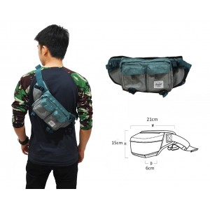 Waist Bag Premium Double Pocket Green