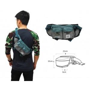 Waist Bag Premium Double Pocket Green