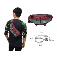 Waist Bag Premium Double Pocket Red