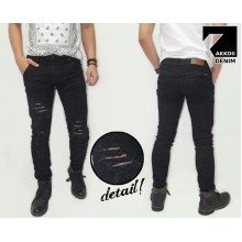 Jeans Pants Ripped Black Rocker Kakkoii
