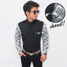 Kemeja Casual Sleeve White Batik