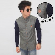 Kemeja Wool Sleeve Knit Grey Faded