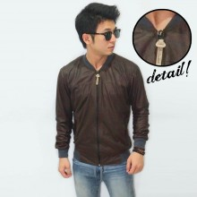 Varsity Leather Dark Brown
