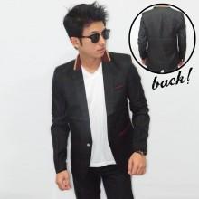 Blazer Casual Collar Creamy List Black