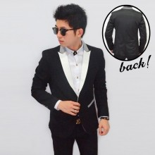 Blazer Fashion White Front Collar