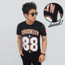 Brooklyn 88 Polkadot Stripe Tee