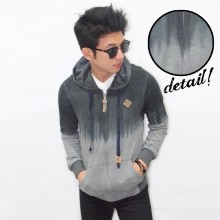 Jacket Dye Washed Dark Soft Grey