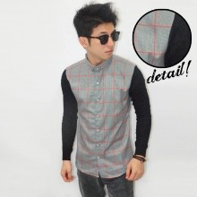Kemeja Big Square Sleeve Knit Grey